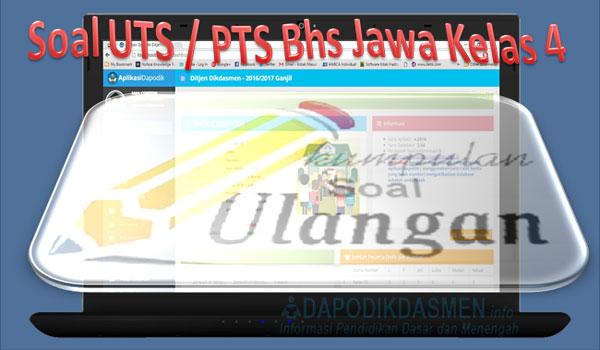 Soal UTS / PTS Bahasa Jawa SD Kelas 4 Kurikulum 2013