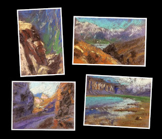 Thumbnail sketches or study sketches of landscapes from Himachal Pradesh by Manju Panchal