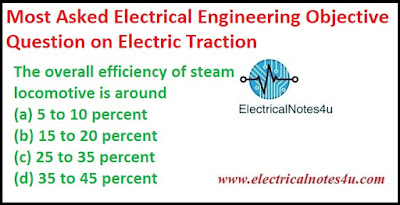 Electrical Engineering Objective Question on Electric Traction