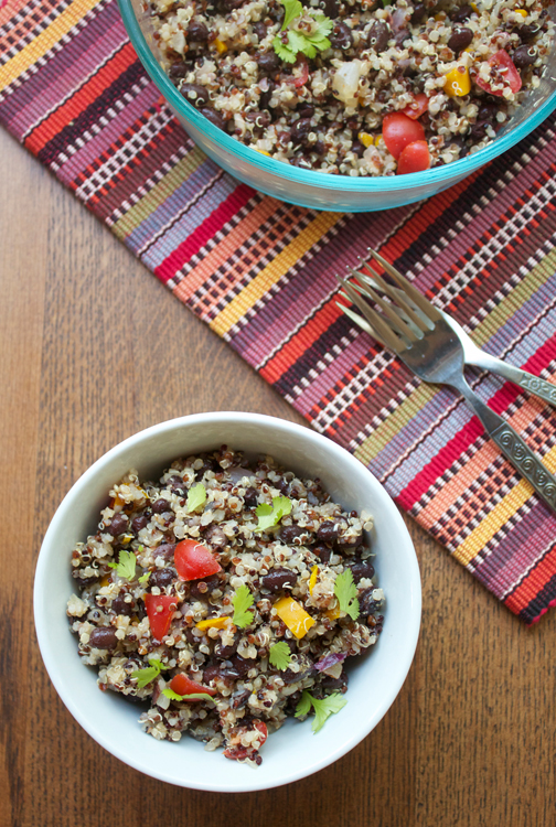 Quinoa Black Bean Salad || A Less Processed Life