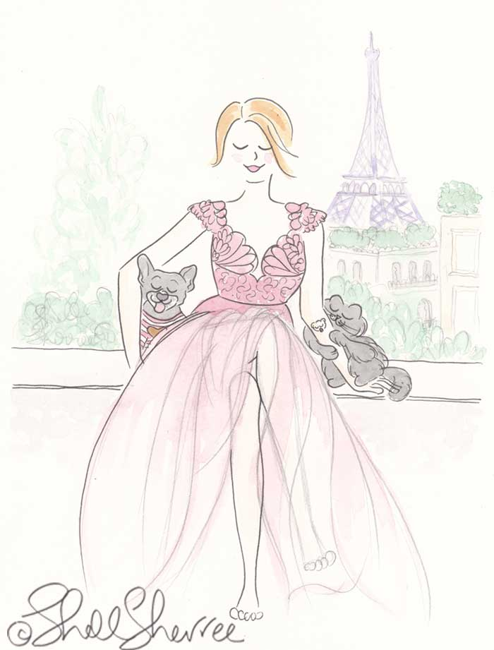 Fashion and Fluffballs illustration: The Girl With The Gold Koala Tattoo © Shell Sherree