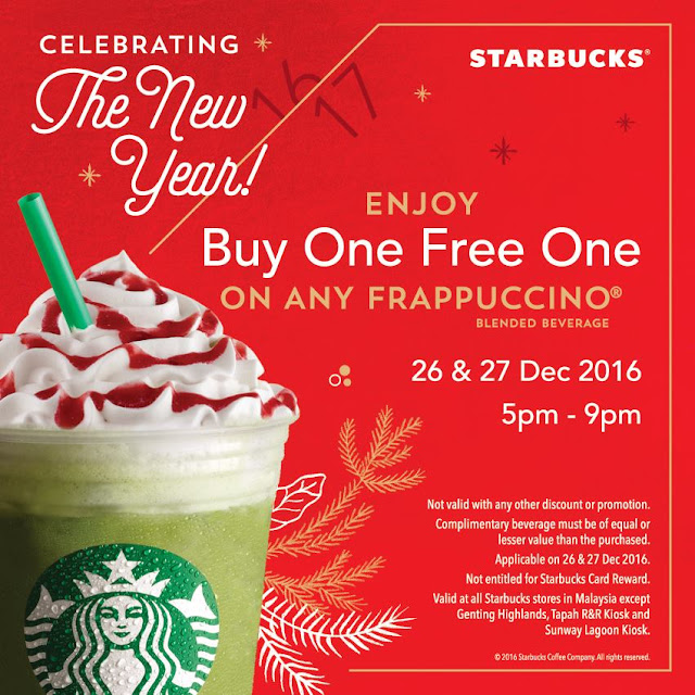 Starbucks Malaysia Buy One Free One Frappuccino