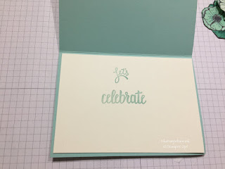 Lets Celebrate. Inside card. Amazing You from Stampin Up!