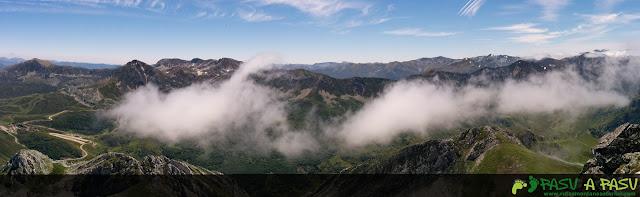Ruta al Pico Torres y Valverde: Panorámica desde la cima del Torres sobre el Puerto de San Isidro