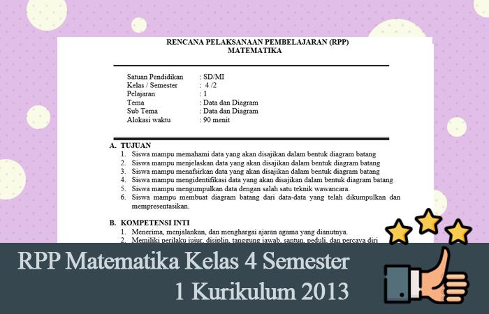 RPP Matematika Kelas 4 Semester 1 Kurikulum 2013 Format Word