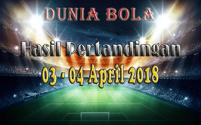Hasil Pertandingan Sepak Bola Tanggal 03- 04 April 2018