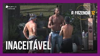 A Fazenda 12 – Rodrigo desabafa a Biel e Juliano – Peoas iniciam tarefas na sede
