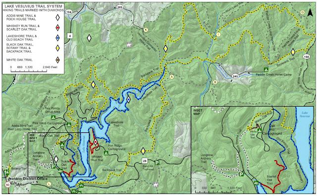 Lake Vesuvius Trail Map