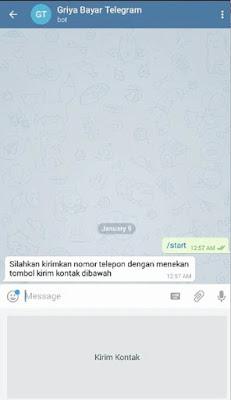 CARA TRANSAKSI PPOB VIA TELEGRAM