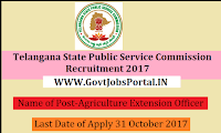 Telangana Public Service Commission 2017– 851 Agriculture Extension Officer