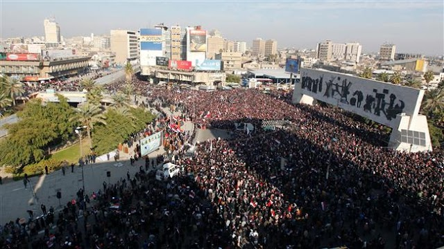 Iraqi cleric Muqtada al-Sadr supporters hold fresh demonstration in Iraqi capital of Baghdad