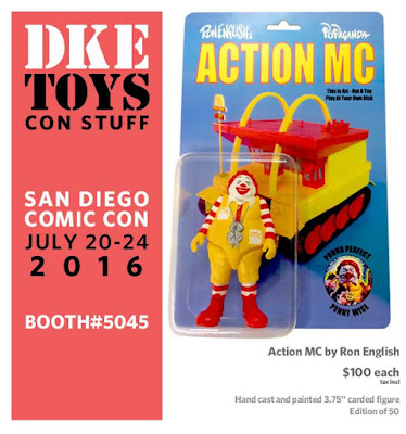 San Diego Comic-Con 2016 Exclusive Action MC Resin Figure by Ron English x DKE Toys