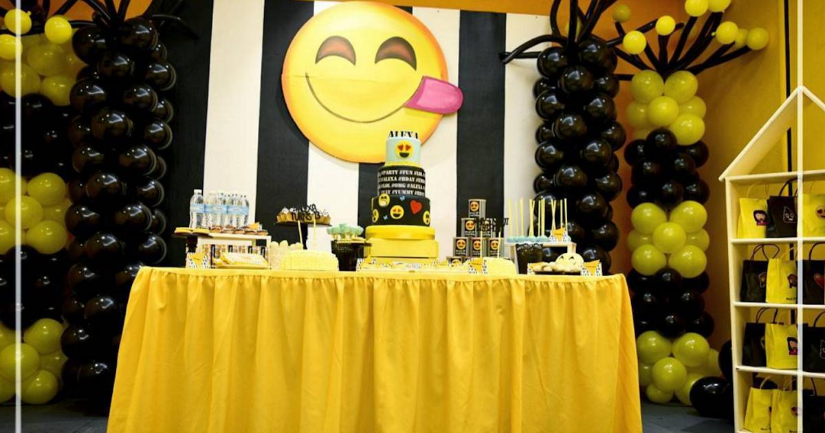 101 fiestas ideas para tu fiesta de emoticones for Ideas decoracion fiesta