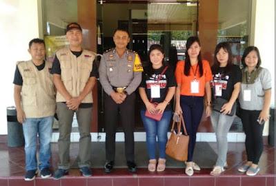 Relawan Demokrasi KPU Sosialisasi Pemilu Di Ruang Tahanan Polres Minsel