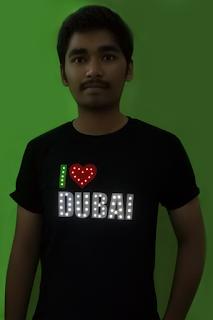 I Love Dubai Led Tshirt
