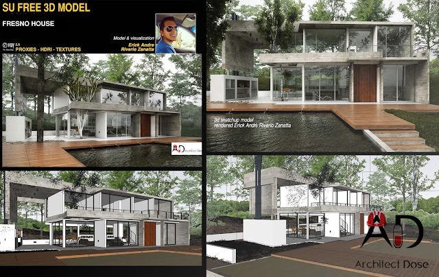 Sketchup Free 3d Model - Fresno House