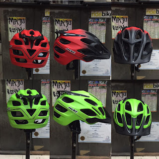Helm Sepeda Mxl AM20 size 53-60 cm Red Green