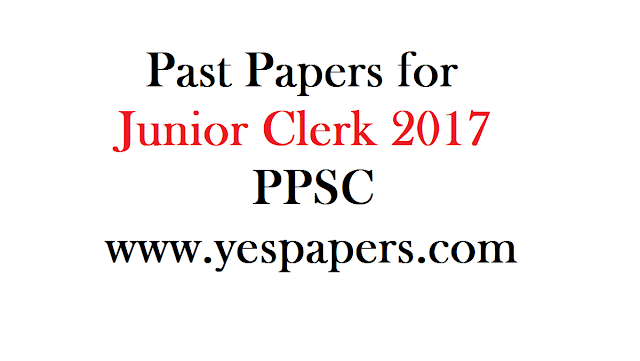 Past Papers of Junior Clerk 2019