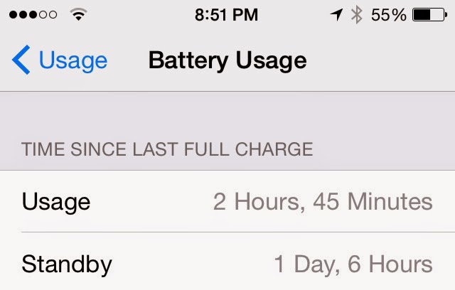 iOS 8 How to: Monitor and track your battery usage 4