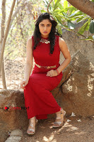 Telugu Actress Zahida Sam Latest Pos in Red Gown at RF Films New Movie Opening  0239.JPG