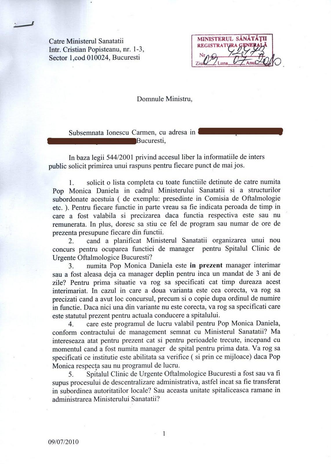 Vlad Voiculescu: E in Ministerul Sanatatii un inalt ...   Ministerul Sanatatii