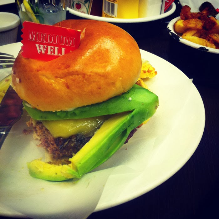 byron burger with avocado