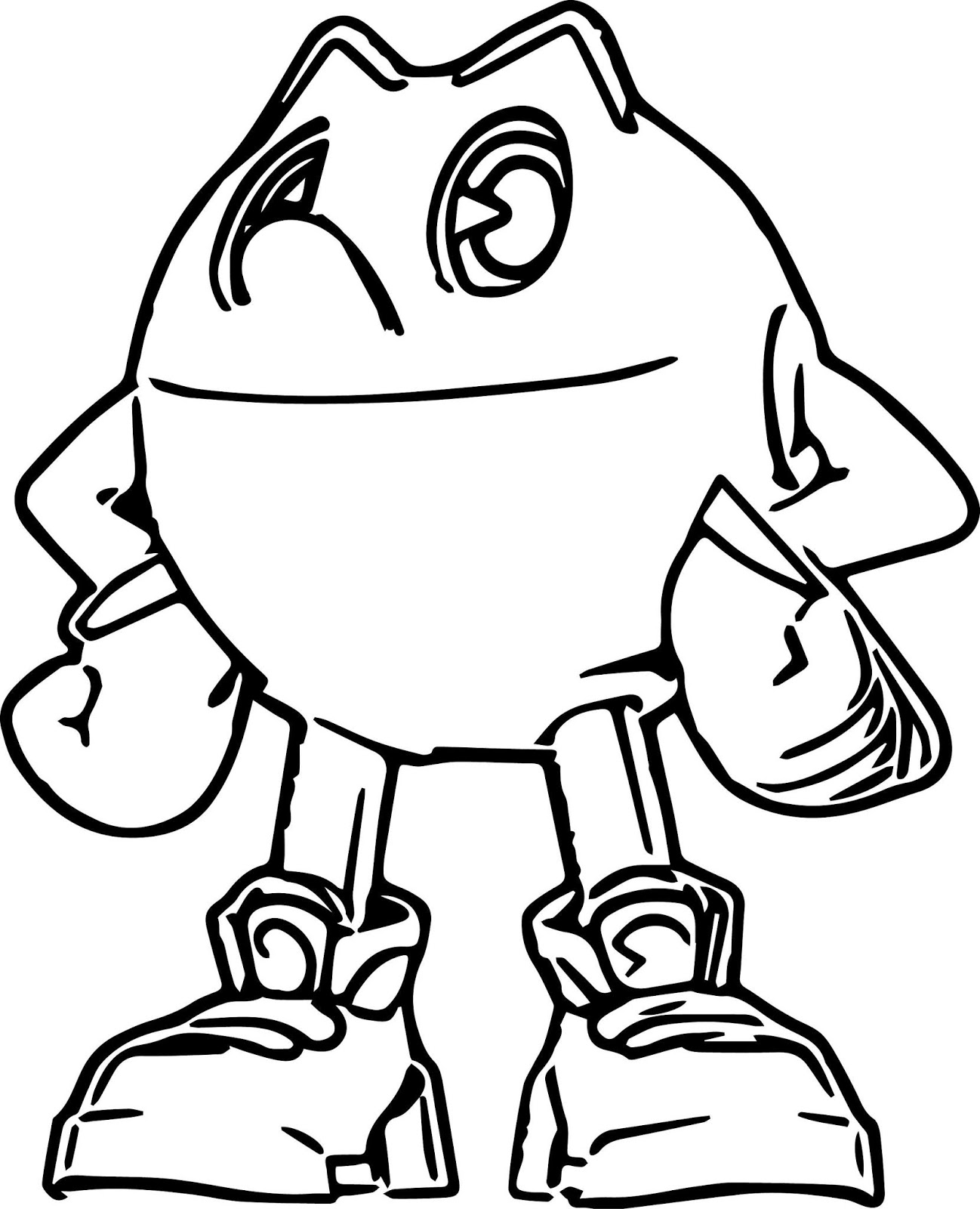 Cool Pacman Coloring Page - Free Printable Coloring Pages for Kids
