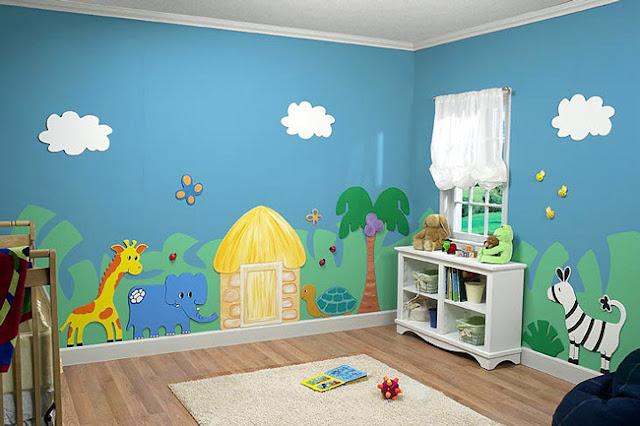 دهان غرف أطفال 2020 باللون التركواز