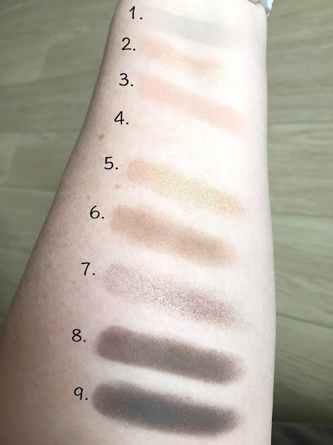 MAC Amber X 9 Eyeshadow Palette swatches