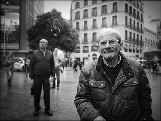Street Photography in B&W. Madrid