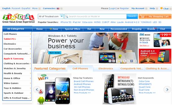 tinydeal الشراء عبر الانترنت