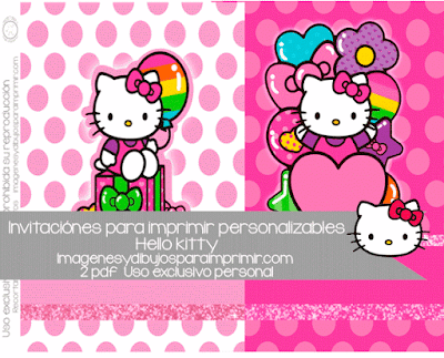 invitaciones para imprimir de hello kitty