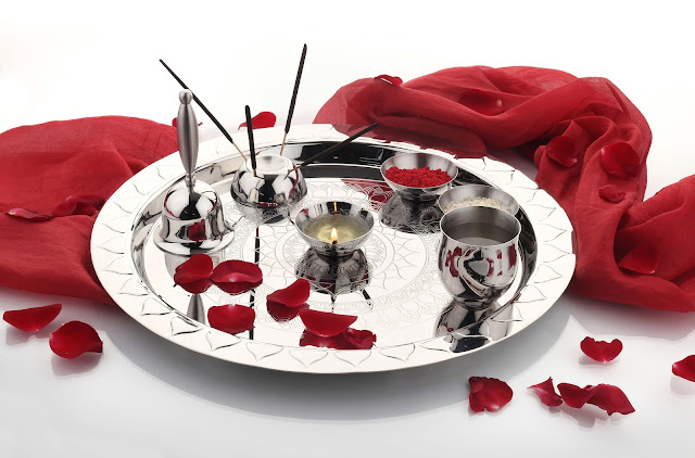 Etching Pooja Thali Large by Arttd'inox Rs. 2695