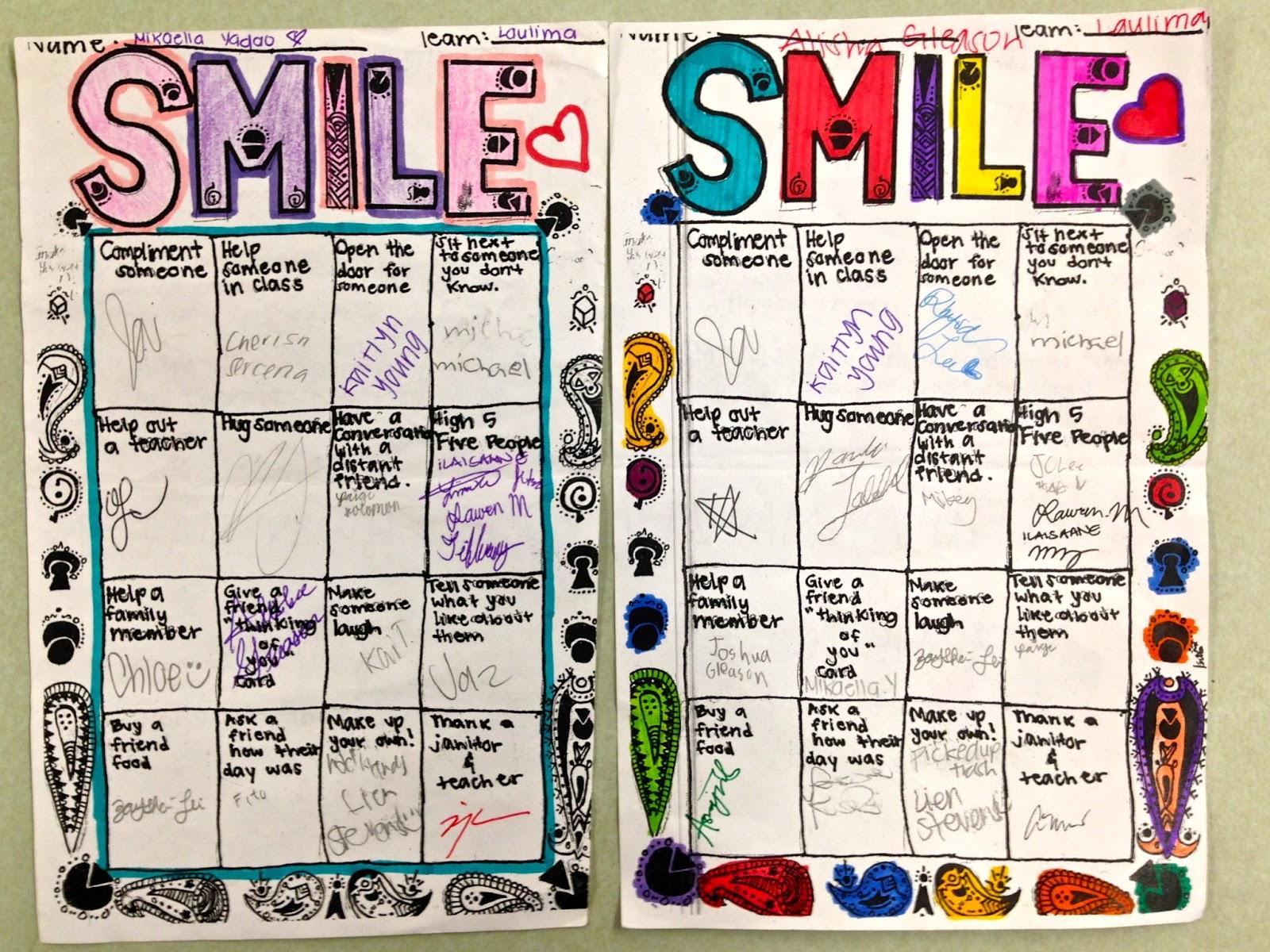 Highlands Intermediate Student Activities Random Acts Of Kindness Week