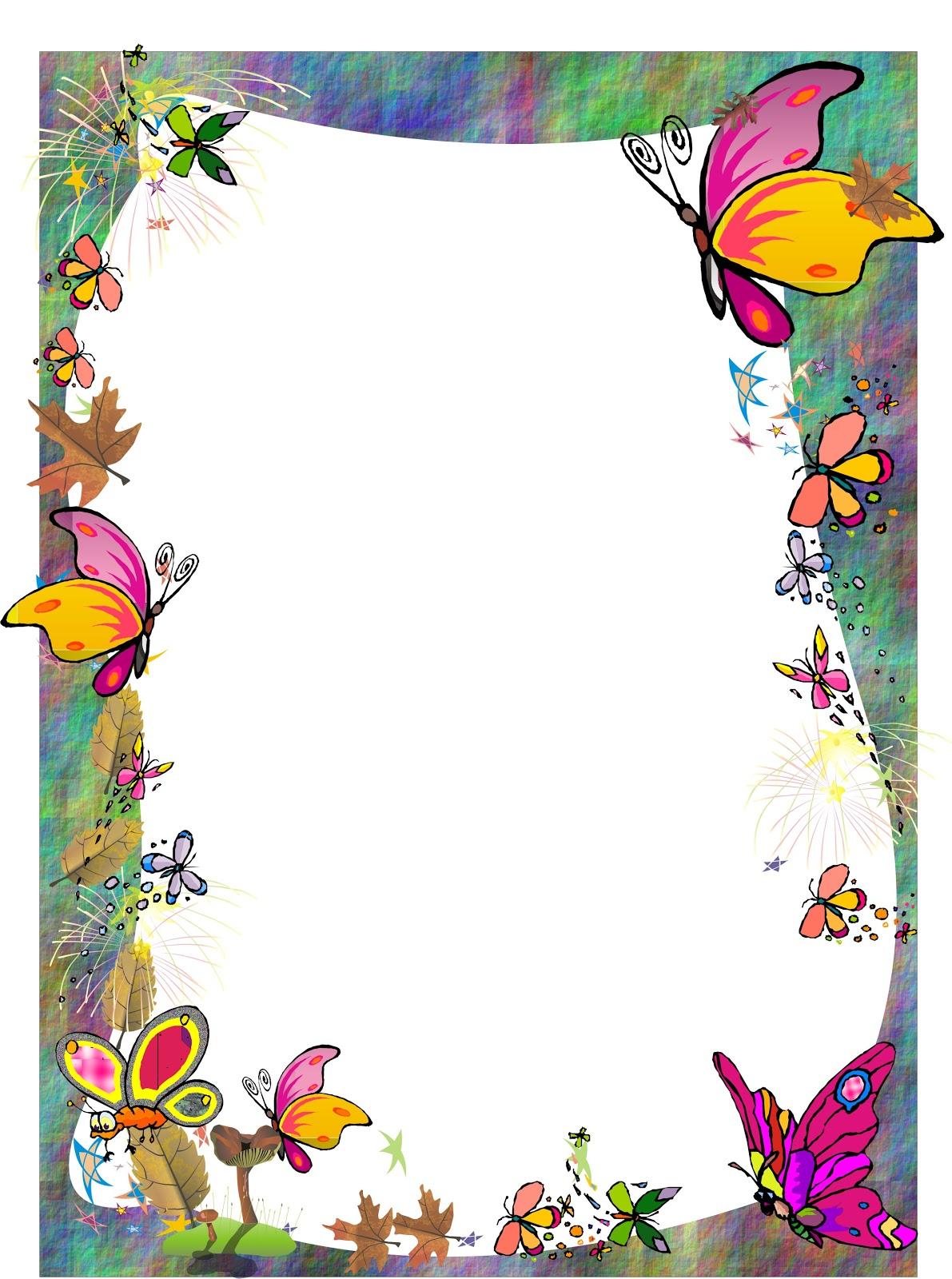 Bordes Florales Decorativos Dibujados A Mano