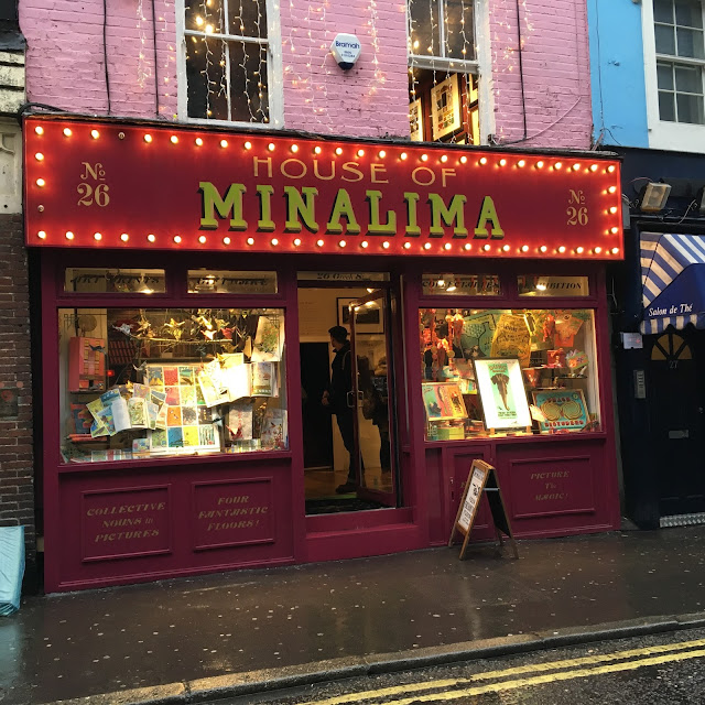 store front house of minalima greek street london