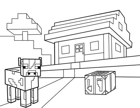 Lego city kids: Desenho Minecraft para colorir