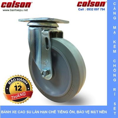 Bánh xe đẩy cao su đặc di động 4 inch chịu lực 122kg | S2-4256-TPE www.banhxeday.xyz