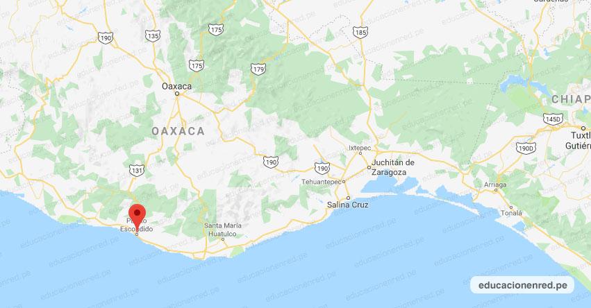Temblor en México de Magnitud 4.8 (Hoy Miércoles 01 Julio 2020) Sismo - Epicentro - Puerto Escondido - Oaxaca - OAX. - SSN - www.ssn.unam.mx