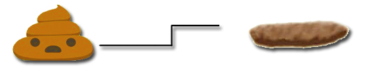 Cor das fezes - Coco cilindrico