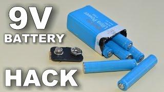 Розбираємо 9-вольтову батарейку