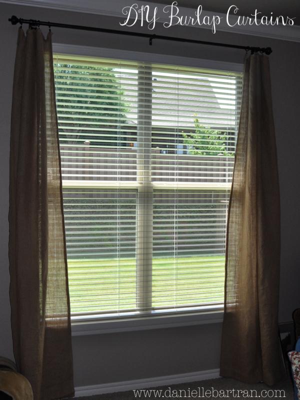 Made Burlap Curtains