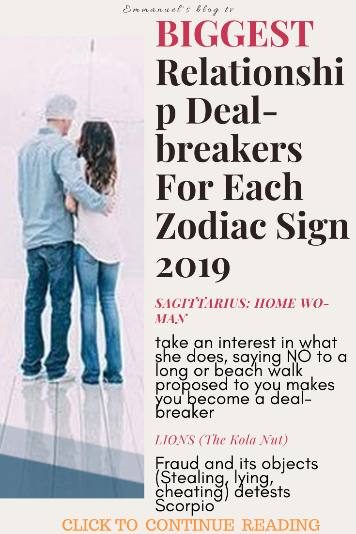 BIGGEST Relationship Deal-breakers For Each Zodiac Sign 2019