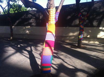 árbol decorado con crochet