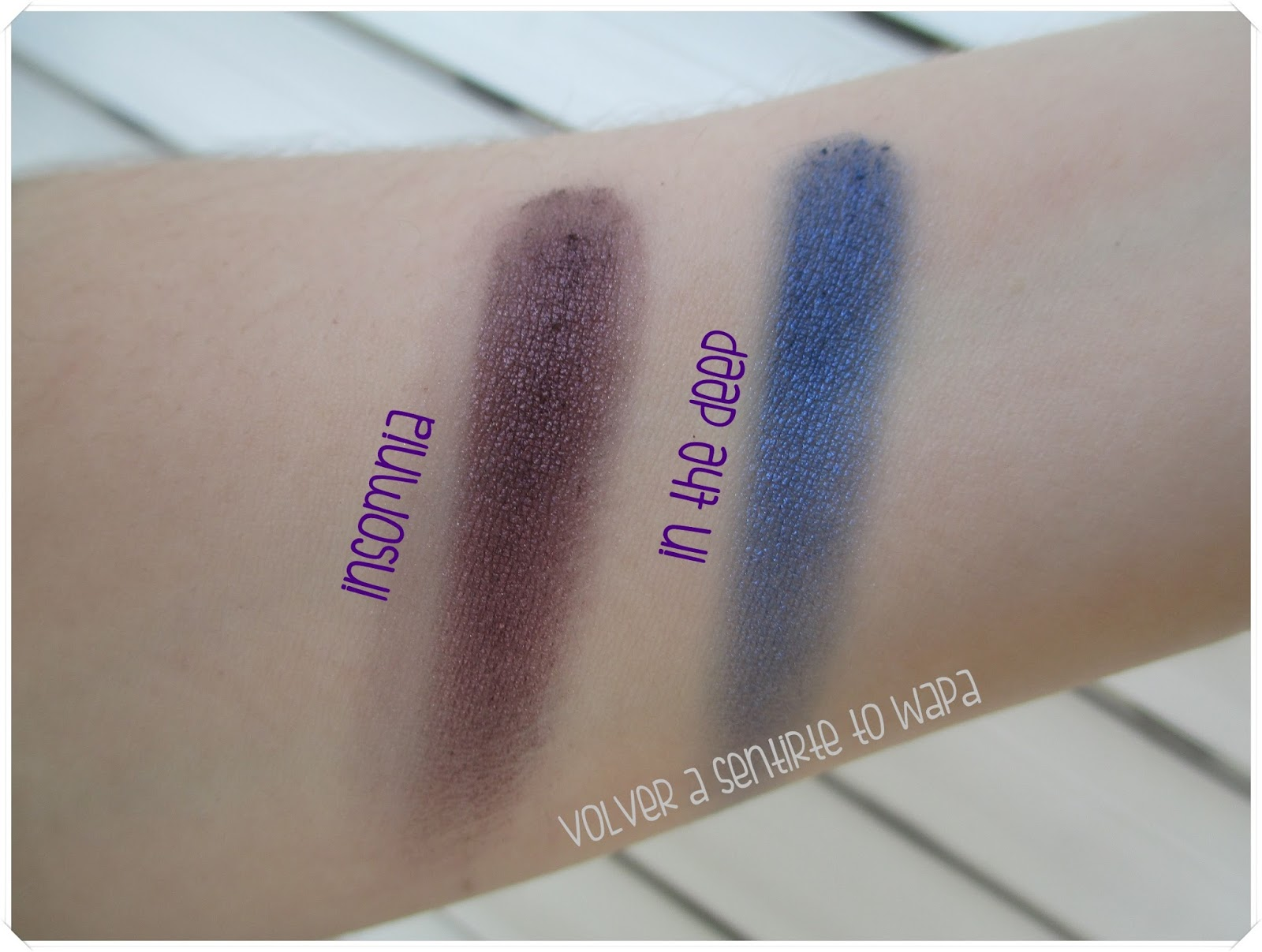 Sombras Individuales de Make Up Revolution - In the Deep e Insomnia