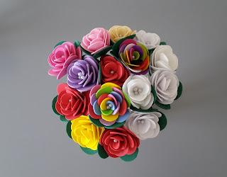 bukiet kwiatów DIY
