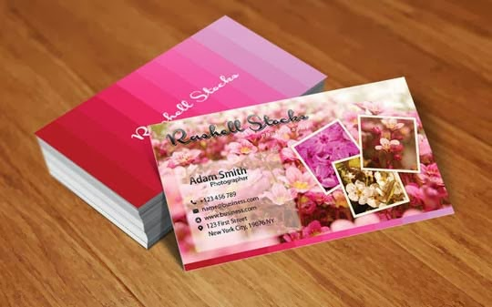 Flowery Business Cards