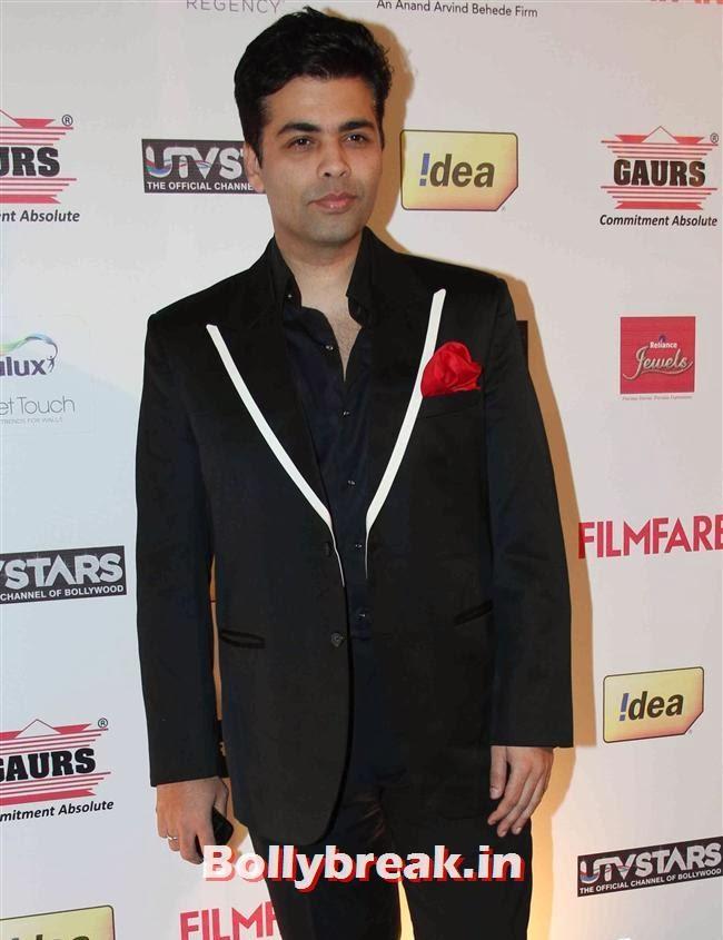 Karan Johar, Bollywood Actors at 59th Filmfare Pre Awards Party