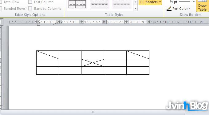Cách tạo đường gạch chéo trong ô, viết chữ trong ô gạch chéo Word