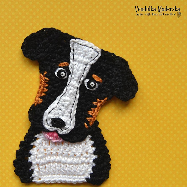 Crochet pattern - Bernese Mountain Dog by Vendula Maderska